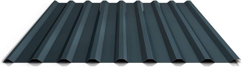 Farbe Anthrazitgrau Profilblech Profil PS20//1100TRA Material Stahl Dachblech Beschichtung 25 /µm Trapezblech St/ärke 0,75 mm