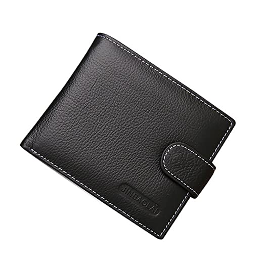 8355c3b20a8d Bluelans Men's Bifold Wallet Genuine Leather Billfold Wallet with ID Credit  Card Holder Coin Purse (