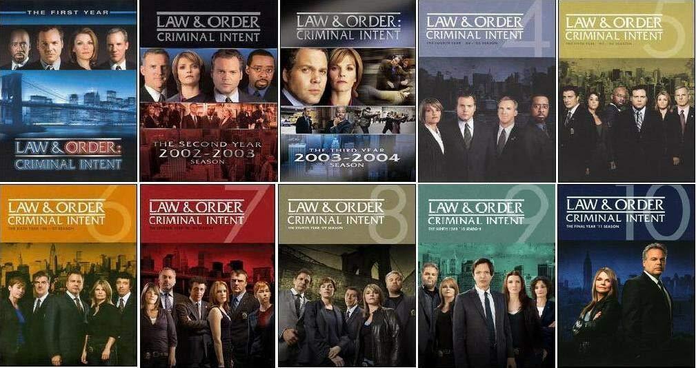 Law & Order Criminal Intent - Seasons 1-10 Bundle DVD