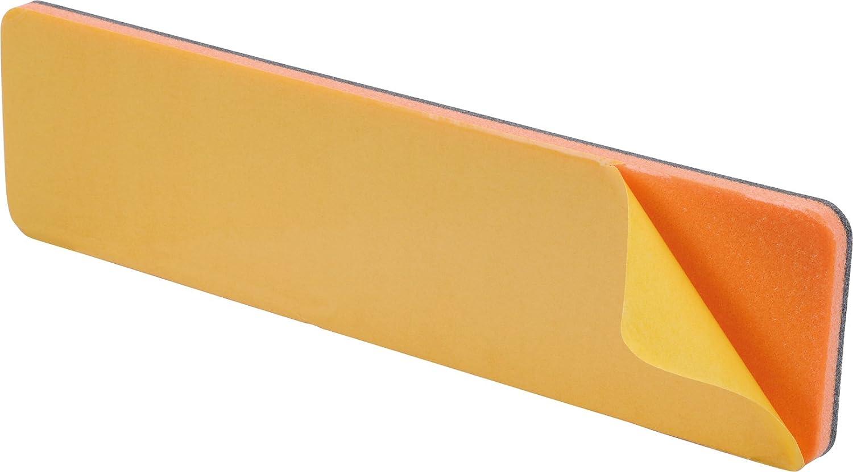 Set of 2 Black HR-imotion 12210201 Self-Adhesive Bumper Protection 35 x 312, Sto/ßstangen Schutz Set