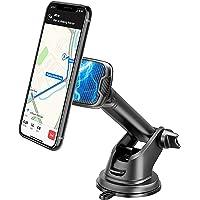 Baker Magnetische telefoonhouder voor in de auto, 360 graden draaibaar, autosmartphonehouder met zuignap en kleefpad…