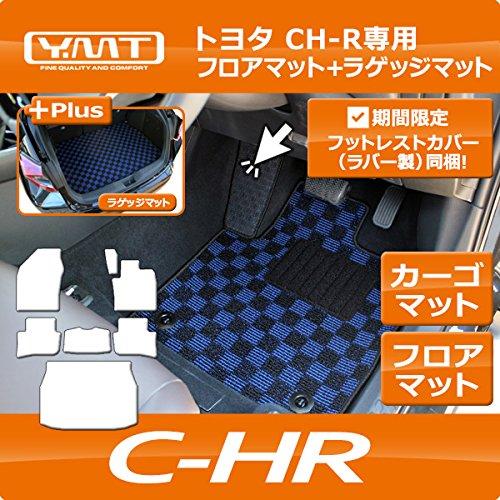 YMT トヨタ C-HR(ハイブリッド 2WD) フロア+ラゲッジマット ループチェック赤黒 B06X6CXFDJ  ループチェック赤黒 ハイブリッド2WD