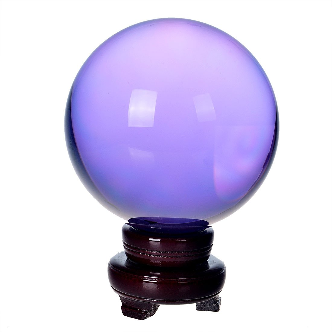 H&D Huge Asian Quartz Light Purple Magic Crystal Ball Sphere 200 Mm Clear Free Stand Decor