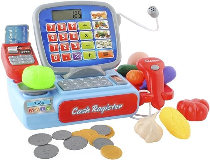 ISO TRADE Caja registradora de Juguete para niños - Caja registradora + escáner + Dinero Falso #4476: Amazon.es: Juguetes y juegos