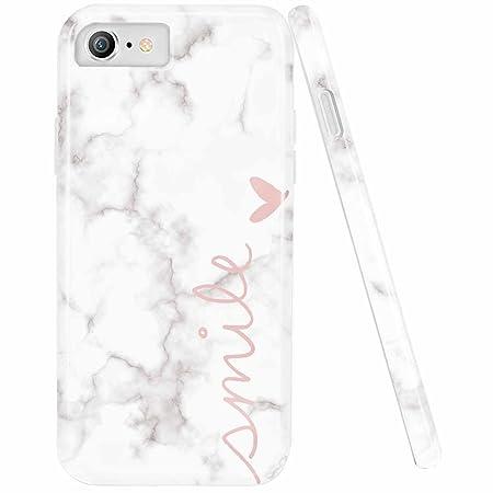 Doujiaz Schutzhülle für iPhone 5 / 5S / SE, Marmor-Design / Transparent, weiches TPU-Silikon
