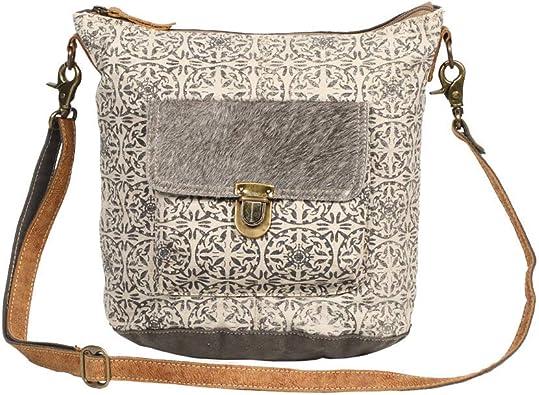 Amazon Com Myra Bag Ormos Upcycled Canvas Cowhide Leather Shoulder Bag S 1255 Shoes Inicia tu prueba de amazon prime gratis. myra bag ormos upcycled canvas cowhide leather shoulder bag s 1255