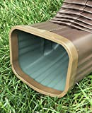 Aluminum Downspout Elbow 3x4 Brown with DSC