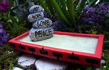 Amazon.com: Miniature Fairy Garden Zen Garden Garden Sandbox ... on mail kiosk design, zen space, zen flowers, pergola design, zen art, landscape design, zen gardening, pool design, zen paint colors, loft design, patio design, zen doodle designs instruction, zen small backyard ideas, zen gardens landscaping, zen symbols, okinawa design, zen gardens in japan,