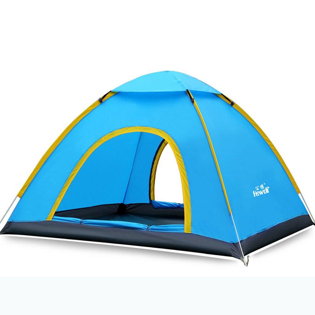 3-4 Personen im Freien Zelt Doppelte automatische Outdoor-Camping-Zelt Campingausrüstung Multiplayer-Strand
