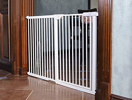 Child safety gates Pressure Mount Baby Gate for Stairs, Hallways and Doors, Encryption Heightening Baby Pet Isolated Gate Fence Size 104-110cm