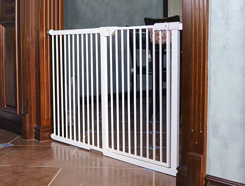 Child safety gates Pressure Mount Baby Gate for Stairs, Hallways and Doors, Encryption Heightening Baby Pet Isolated Gate Fence (Size : 104-110cm)