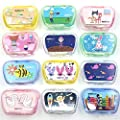 Healthcom 8-Pack Contact Lens Cases Cute Mini Mummy Pupil Care Box