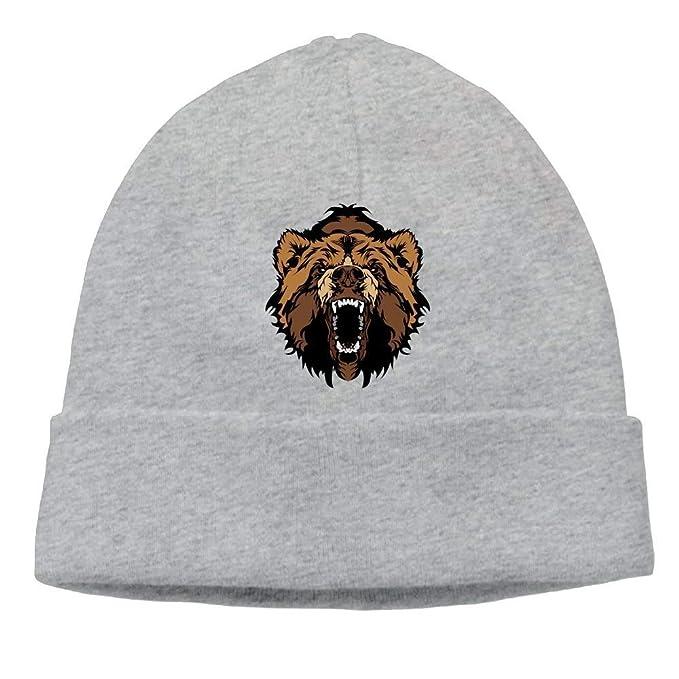 0a716ddb44d Snabeats Warm Knit Cap Hat Unisex Beanies Caps Bear Face Skull Hats Soft  Winter Cotton Hats  Amazon.ca  Clothing   Accessories