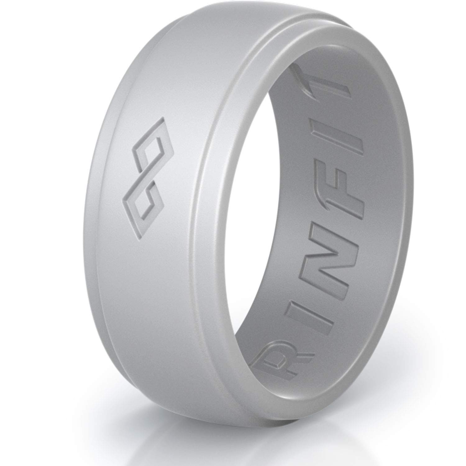 Safe /& Soft Mens Silicon Rubber Wedding Ring Comfortable /& Durable Wedding Band Replacement U.S Design Patent Pending Designed Size 7-14 1 or 3 Rings Pack Rinfit Silicone Wedding Ring for Men