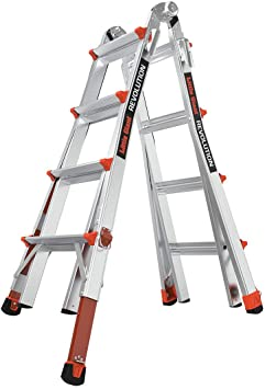 Sistema de escaleras Little Giant 12017 – 801 Revolution M17 con niveladores de trinquete: Amazon.es: Bricolaje y herramientas