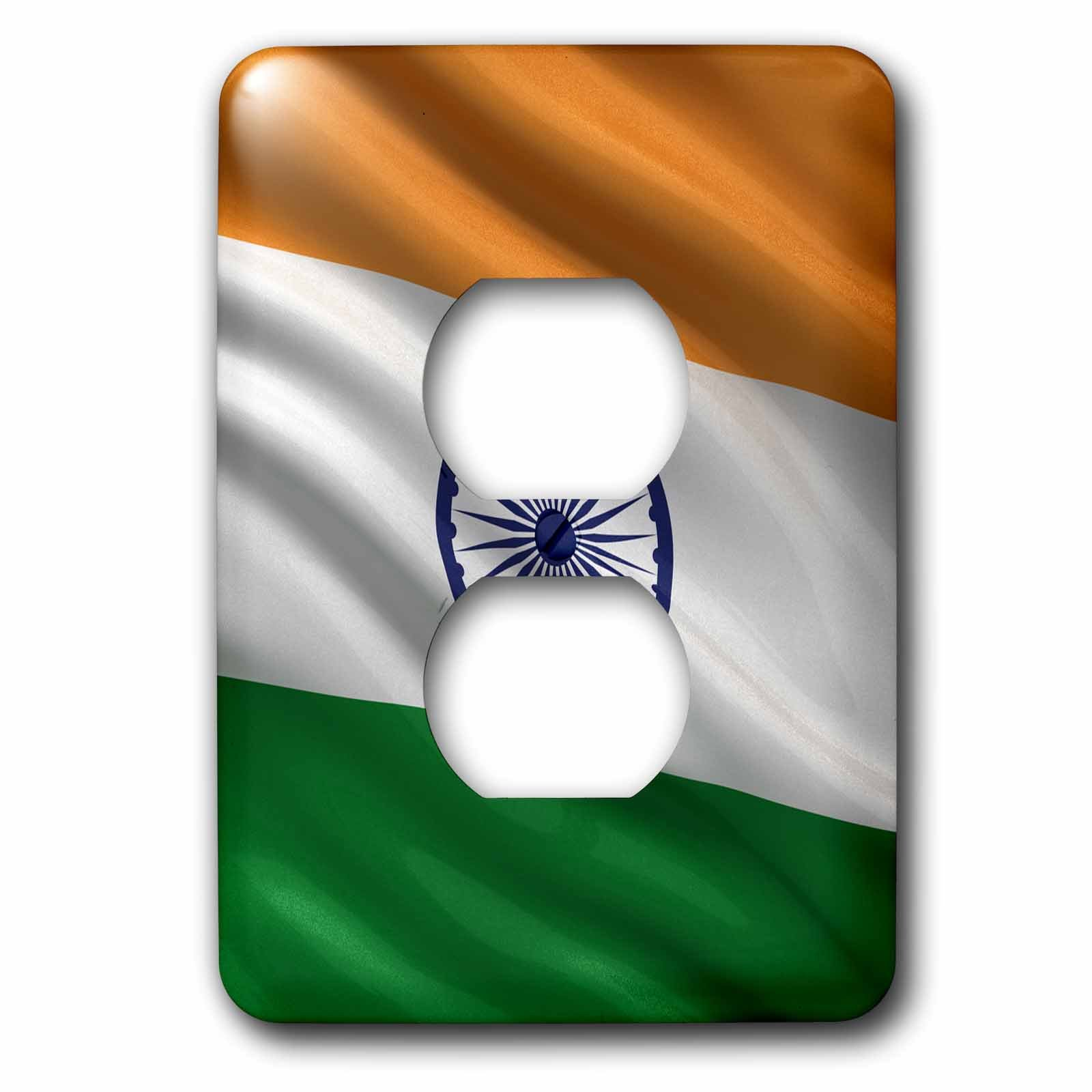 3dRose lsp_178065_6 Flag of India Waving in The Wind Light Switch Cover