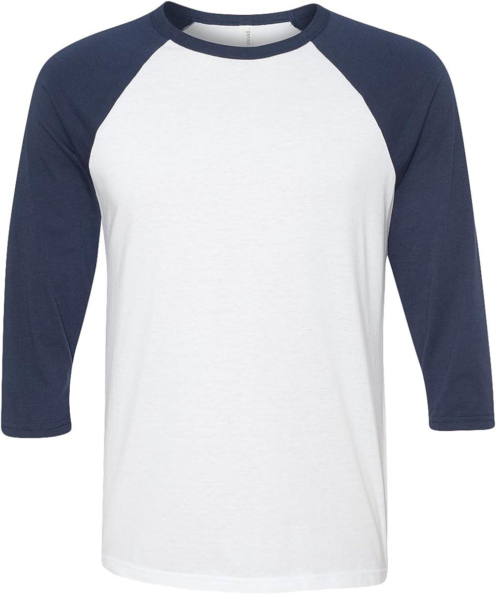 CANVAS Unisex 3//4 Arm Baseball T-Shirt XS S M L XL XXL CV3200