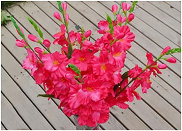 Rose FLAMEER Fleurs Et Fleurs Artificielles Fleurs De Mariage Gla/ïeuls Tige De Gla/ïeul 8 Couleurs