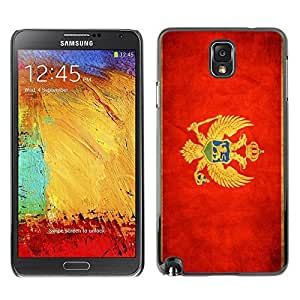 Shell-Star ( National Flag Series-Montenegro ) Snap On Hard Protective Case For Samsung Galaxy Note 3 III / N9000 / N9005