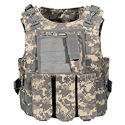 PEATAO Law Enforcement Tactical Vest Army Fans Tactical Vest Lightweight for Outdoor CS Game (US STOCK)