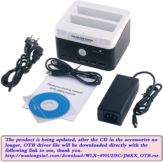 Tccmebius TCC-895U2ISC-DE USB 2.0 a IDE SATA Bahía Dual HDD Disco ...