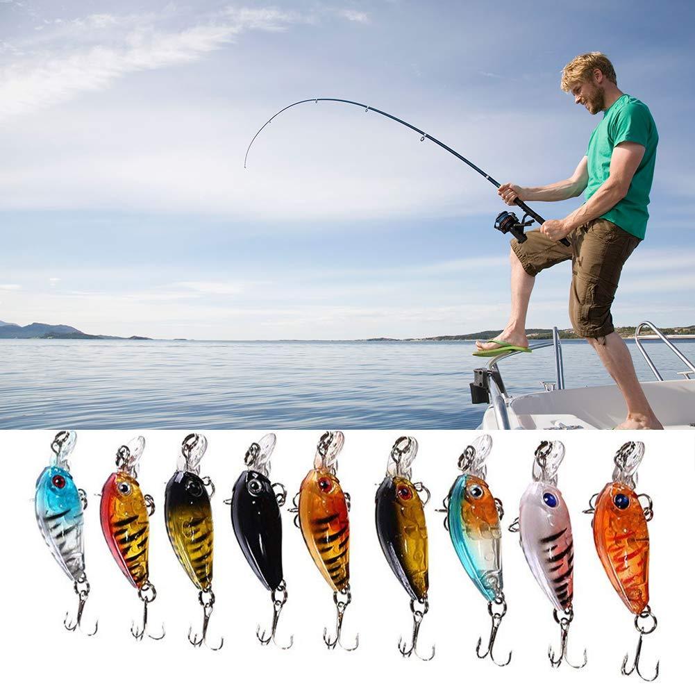 CDKJ de leau Douce de Plein air P/êche Artificielle leurres Bass Fishing Lures P/êche Bait Crank Leurres