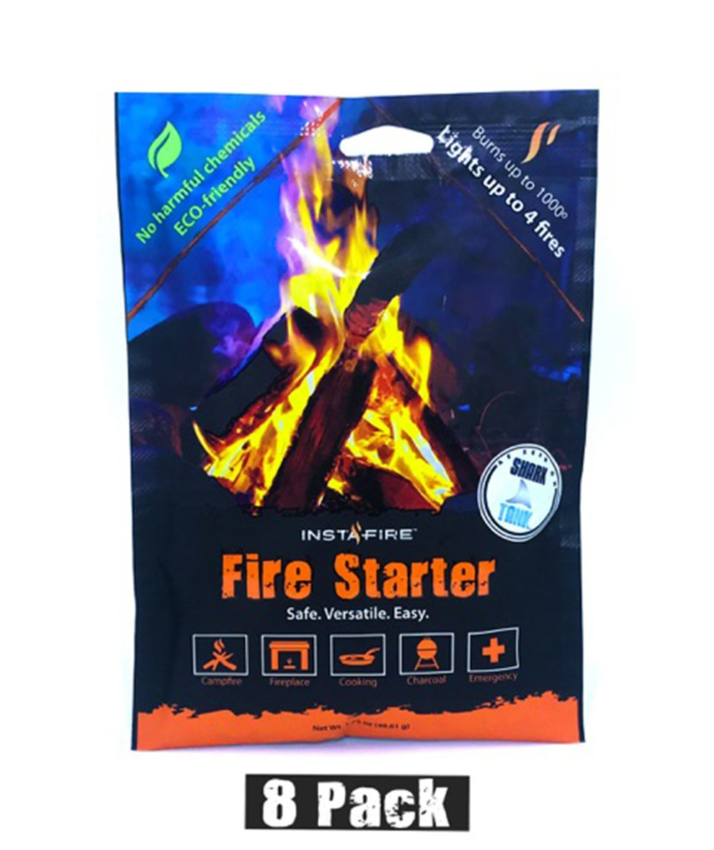 Instafire Granulated Fire Starter, All Natural, Eco-Friendly, Lights up to 32 Total Fires in Any Weather, Awarded 2017 Fire Starter of The Year, 8 Pk by Instafire