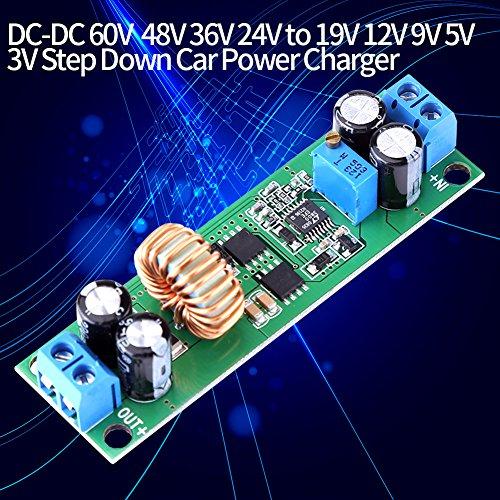 Akozon Buck-Modul DC-DC-Buck-Wandler Einstellbares Stromversorgungsmodul 6,5 V-60 V bis 1,25-30 V 10A