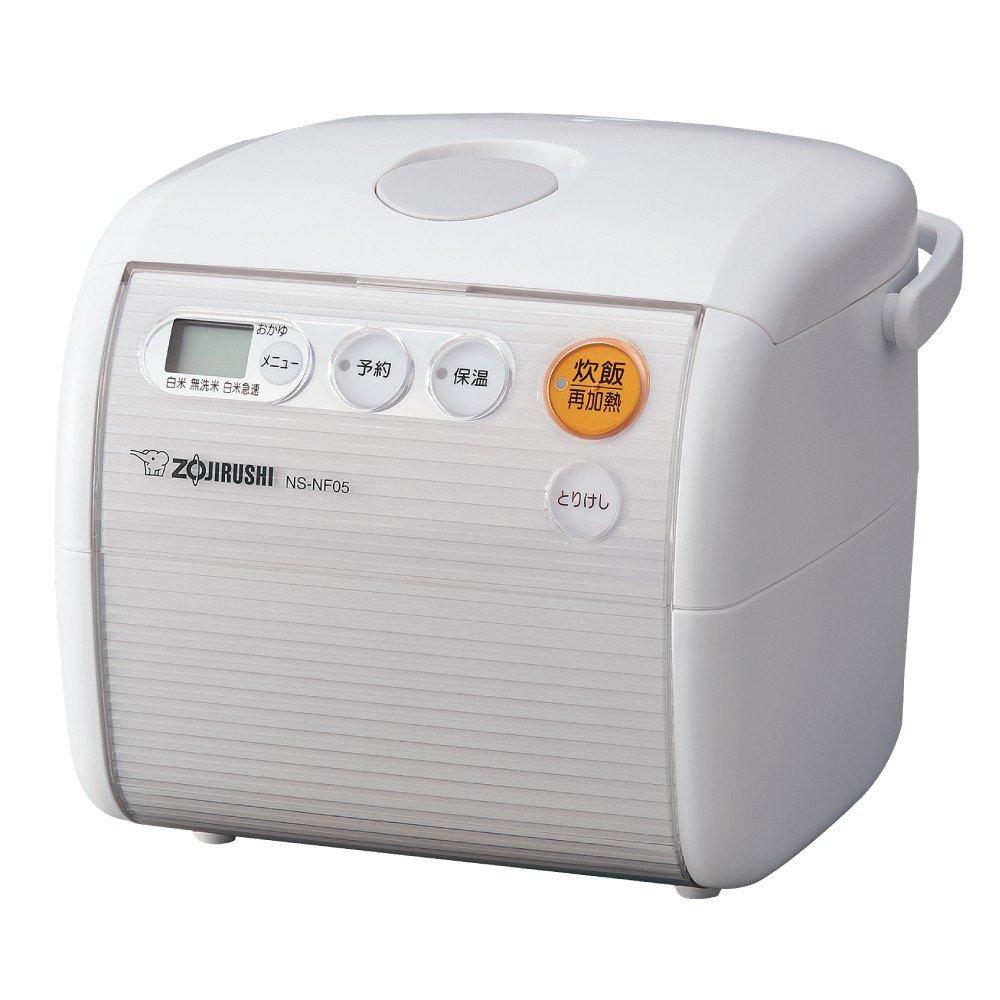 ZOJIRUSHI rice cooker Microcomputer type 3GO (450g) NS-NF05-WA (White)