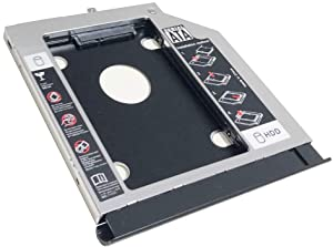 NIGUDEYANG 2nd HDD SSD Hard Drive Optical Frame Caddy Adapter for Acer Aspire E5-573 E5-573G E5-574 E5-574G E5-575 E5-575G with Bezel Faceplate