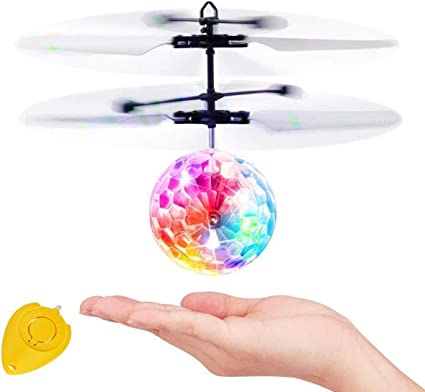 Toys for Kids Flying Ball LED Cool Toy Colorful Flying Light Ball Suspension