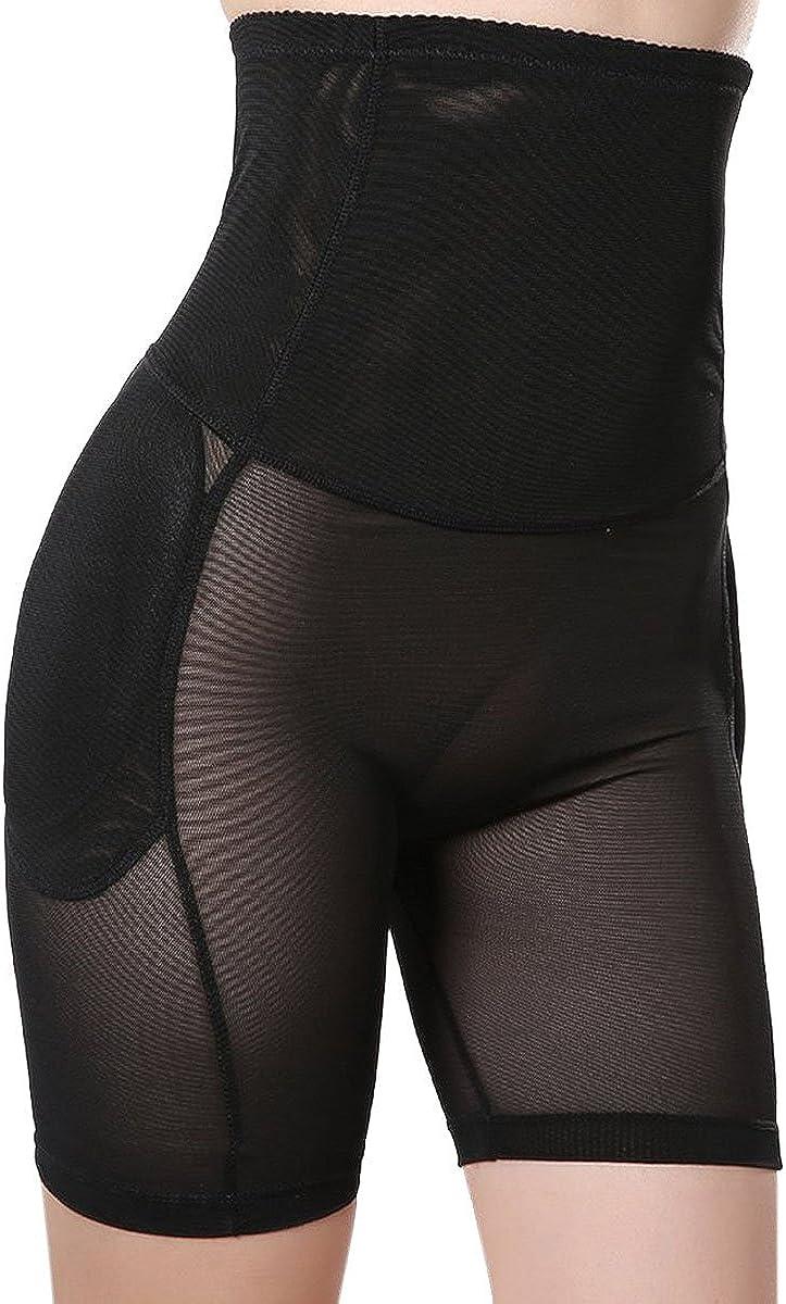 Defitshape Womens Butt Lifter Shapewear Panty High Waist Padded Hip Enhancer Shaper Panties Black