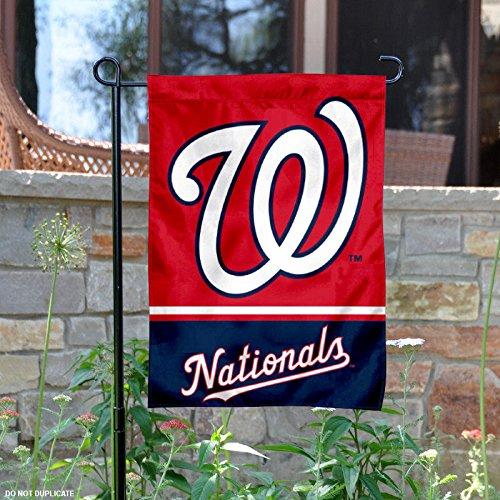 Washington Nationals両面ガーデン旗 B01ITTK670 10052