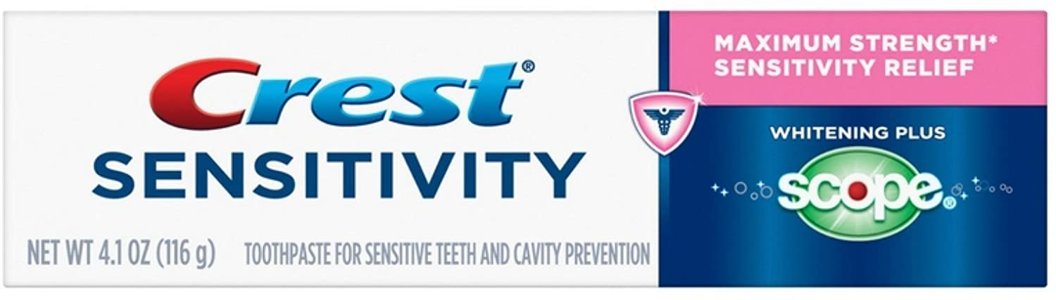 Crest Sensitivity Whitening Plus Scope Toothpaste 4.1 Ounce (Pack of 5)