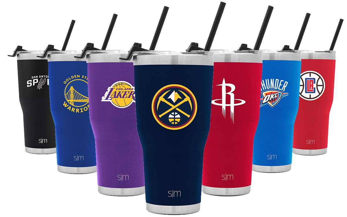 Simple Modern Denver Nuggets 30oz Cruiser Tumbler with Straw - NBA - 18/8 Stainless Steel Vacuum Insulated Travel Mug by Simple Modern