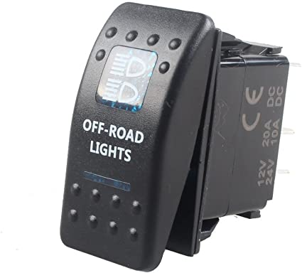 Mintice Trade 12v Kfz Blau Led Licht Beleuchtet Wippenschalter Kippschalter Auto Armaturenbrett Schalter Off Road Light Auto