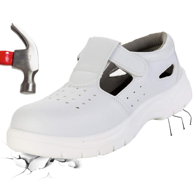 [L-RUNJP] 安全靴 作業靴 厨房シューズ 耐油 耐滑 クッキングメイト ユニセックス 耐磨耗 つま先保護 通気性 軽量 防刺