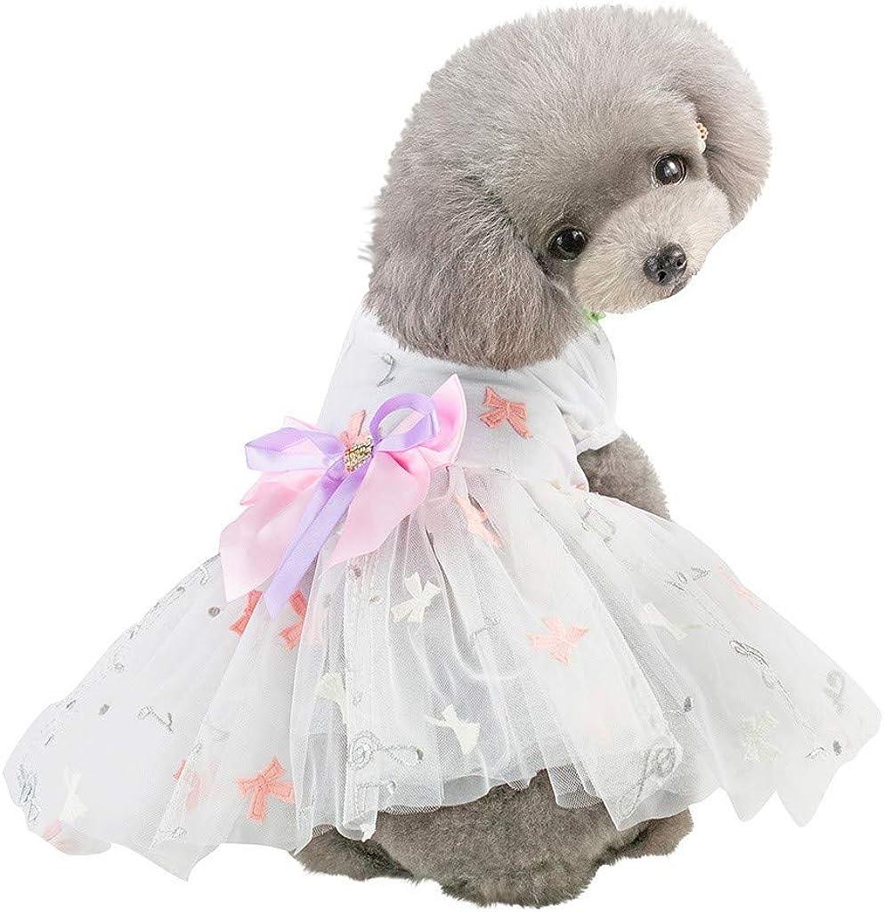 Vestidos de Encaje para Perros, Falda Tutú para Perro Gato, Flor Princesa Vestido Fiesta de Boda, Ropa Perro Pequeño para Primavera Verano, Chihuahua Yorkshire, S-XXL: Amazon.es: Ropa y accesorios