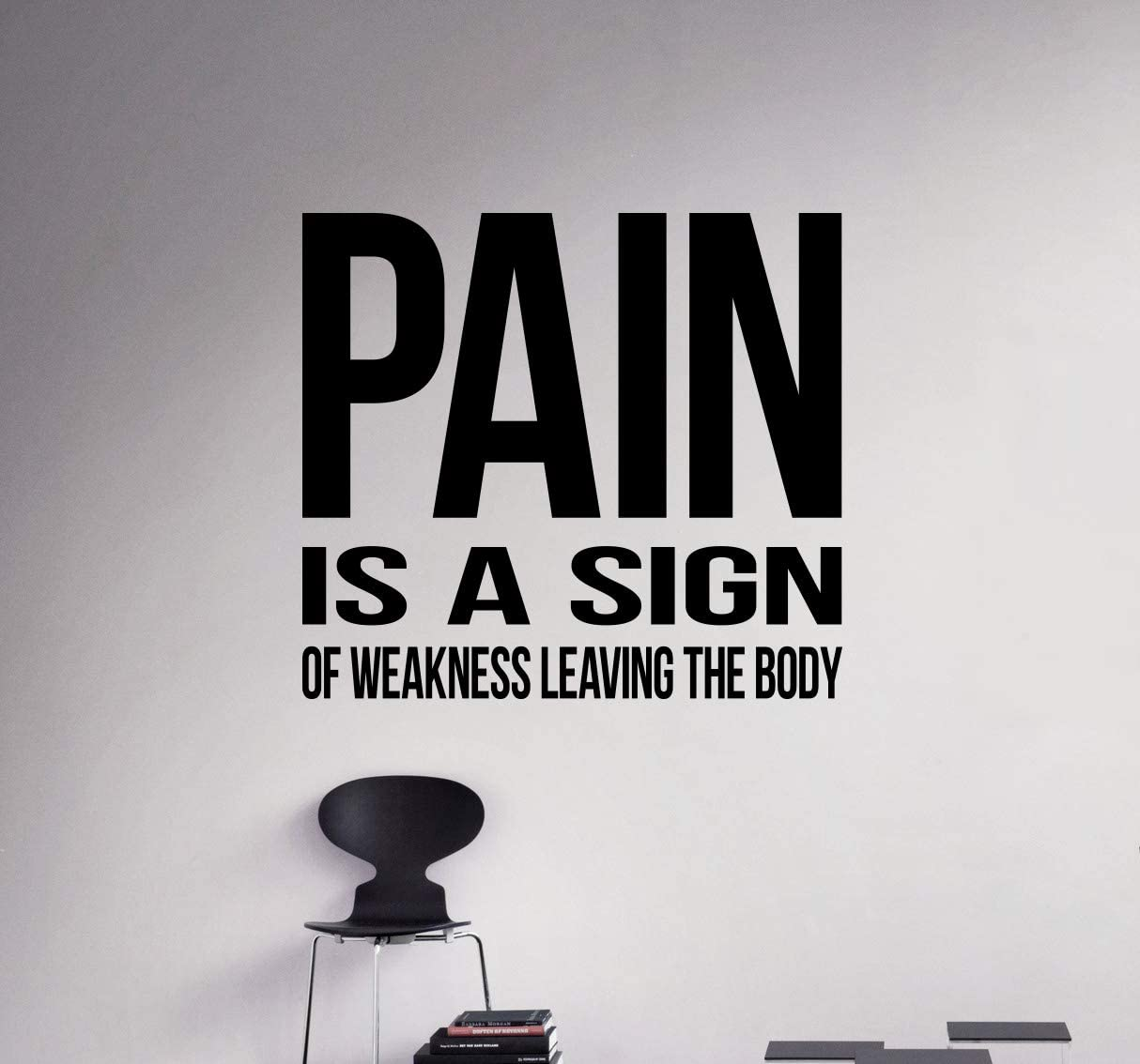 Pain Is A Sign Wall Decal Vinyl Sticker Workout Motivational Quotes Home Art Decor 32 Nwg Amazon Com