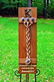 A Cord of Three Strands Board With Real Rail Road Spikes Jute Cords 1/2'' thick