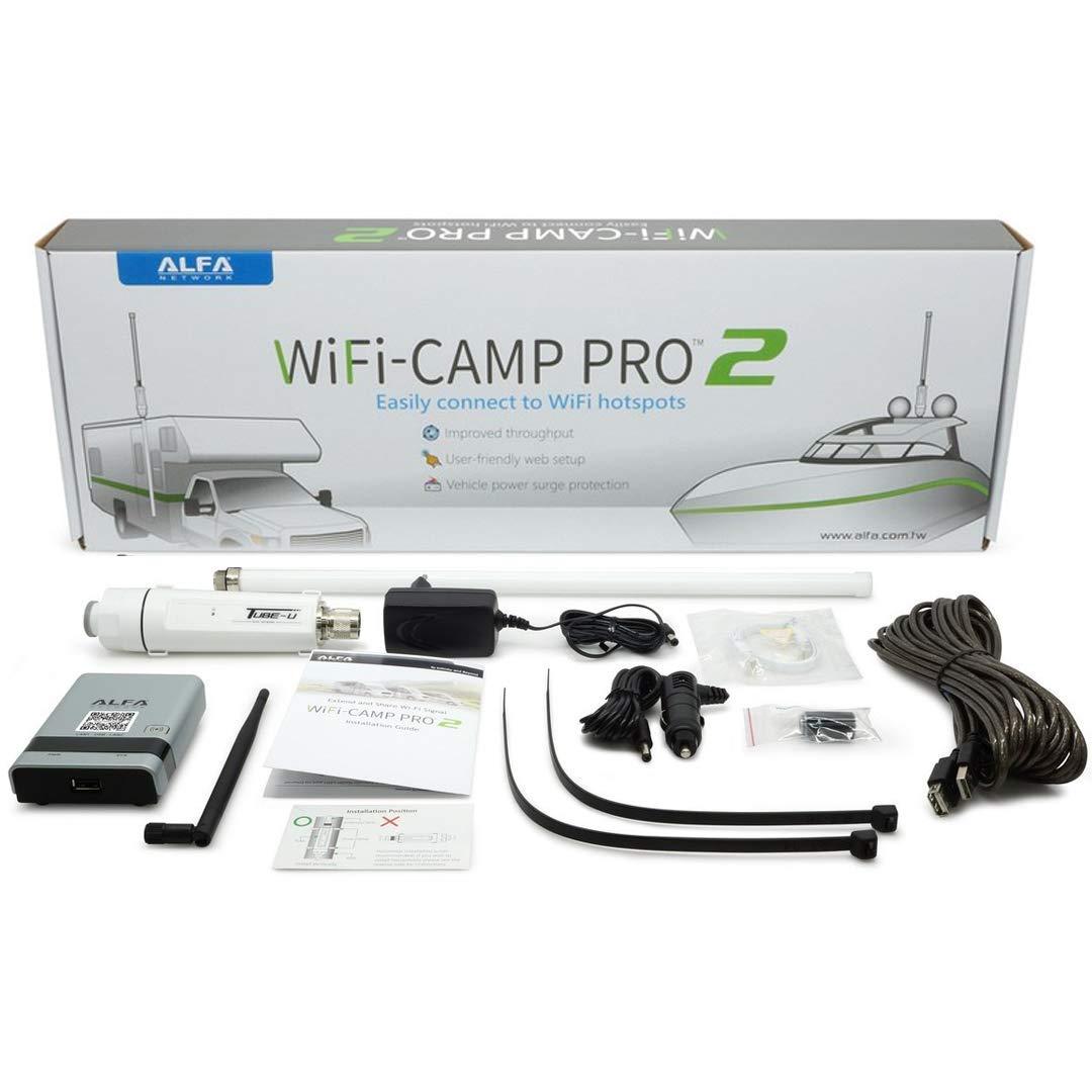 ALFA Network WiFi CampPro 2 Universal WiFi / Internet Range Extender Kit for Caravan/Motorhome, Boat, RV by Alfa Network
