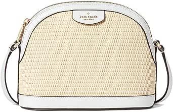 Sylvia Straw X Large Dome Crossbody Bag White Dove