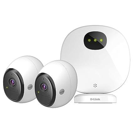 D-Link DCS-2802KT-EU - Kit de cámaras WiFi a batería Recargable (sin Cables, Full HD 1080p, Exterior/Interior, 2-Way Audio, grabación en la Nube, ...