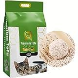 Tofu ekologisk kattsand naturlig kattsand extra stark klumpar i 3 s, 6,50 kg 15 l 100 % biologiskt nedbrytbar extra…