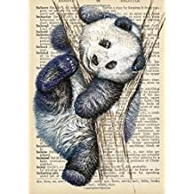 Panda Bear Dictionary Artwork Academic Planner with Inspirational Quotes (A5): A Monthly/Weekly Organizer for College Students and Teachers (August - July)