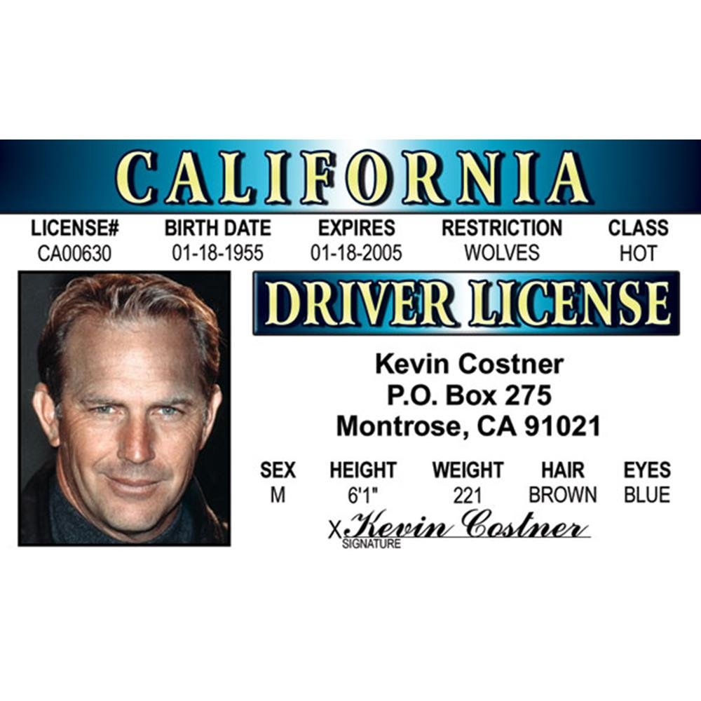 Signs 4 Fun Nkcid K Costners Drivers License