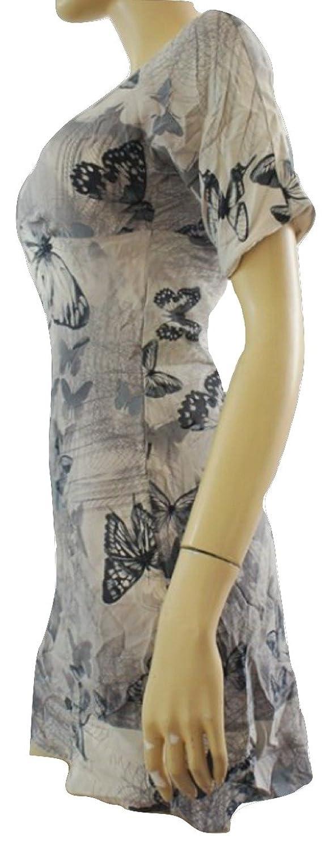 Karen MillenDamen Kleid, Einfarbig Grau Grey Neural's