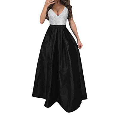 Chanyuhui Women Dress, 2018 Women Sleeveless Formal Wedding Bridesmaid Long Maxi Evening Party Prom Dresses at Amazon Womens Clothing store: