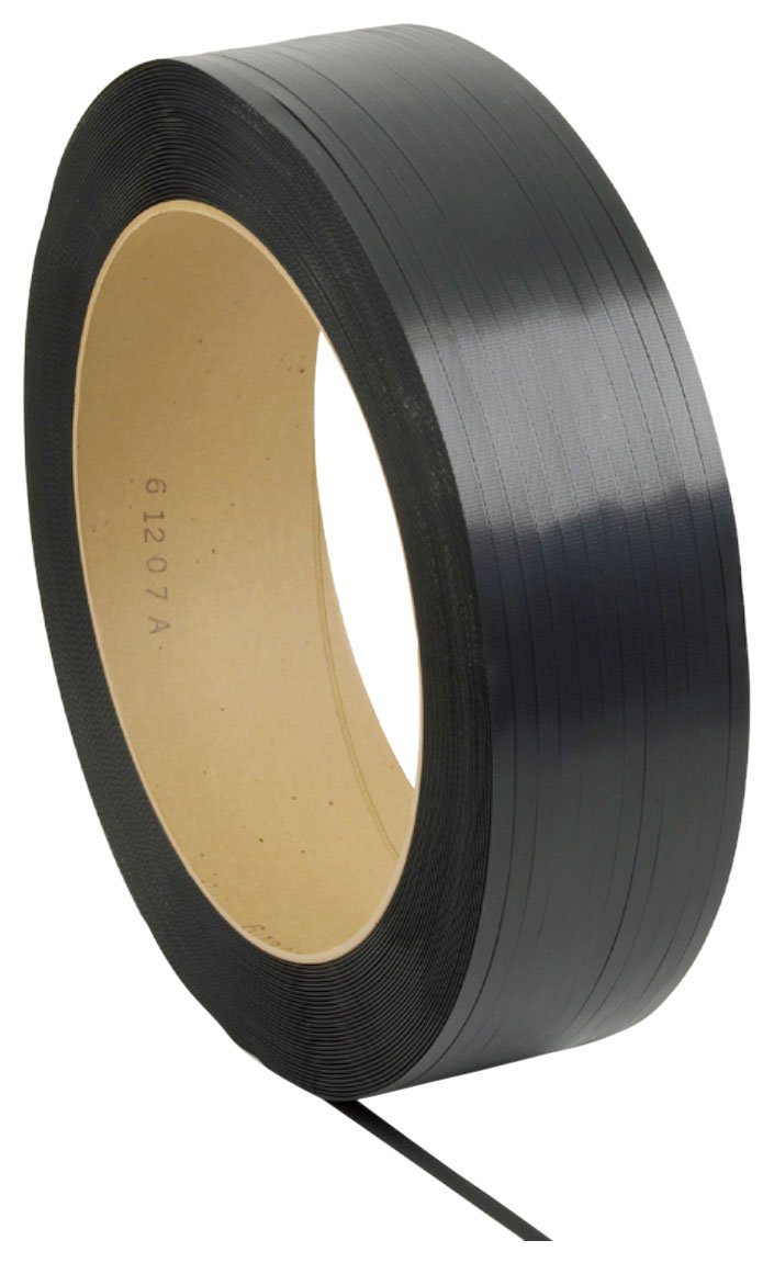 PAC Strapping 48H.30.0190 Polypropylene Light Duty Hand Grade Strapping, 9000' Length, 1/2'' Width, Black