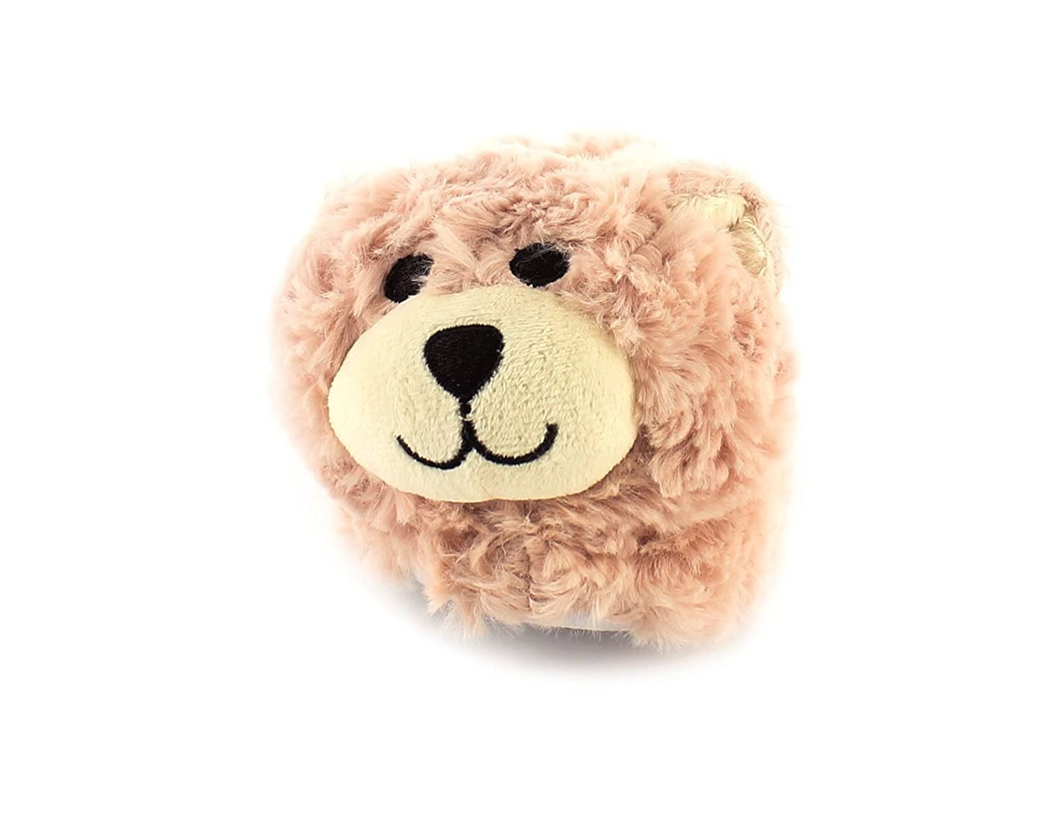 Kisses New Girls/Childs Pink Faux Fur Novelty Teddy Bear Head Slippers - Dusky  Pink/Beige - UK Size 13: Amazon.co.uk: Shoes & Bags
